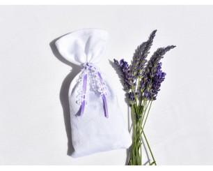 Sachet de lavande blanc -...