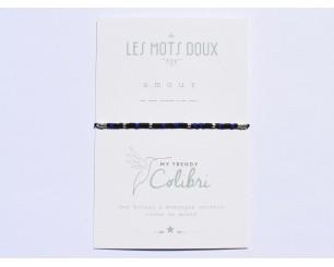 Bracelet homme noir et bleu...