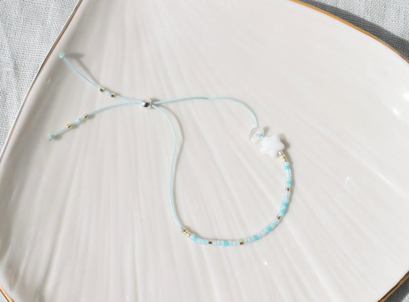 Bracelet enfant bleu et argenté - Les...