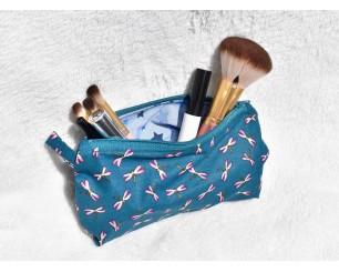 Trousse à maquillage bleu...